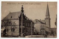 DIEUZE DUSS Moselle CPA 57 rue foch la poste eglise protestante