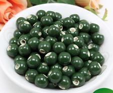 un lote 20 cuentas de cerámica-bola de cerámica verde hierba- para DIY bisuteria