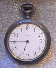 antique Waltham pocket watch in sterling silver  case running