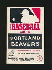 1969 Portland Beavers (PCL) Program vs. VANCOUVER MOUNTIES