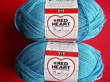 Red Heart  Baby yarn, Sky Blue, lot of 2 (209 yds ea)