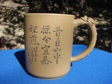 YIXING Clay TEA Mug CUP DRAGON Handle
