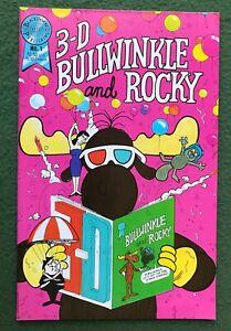 3-D Bullwinkle and Rocky #1 Blackthorne Pub Age Jay Ward cartoon no glasses vfnm