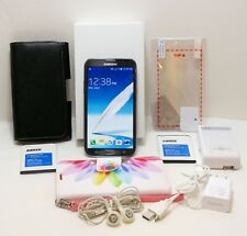 Samsung Note 2 II Smart Phone bundle 3 batteries,covers,charger UNLOCKED microSD