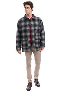 RRP €505 FILSON Wool Jacket Size L Water Repellent Breathable Plaid Made in USA
