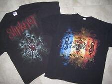 2 Vintage SLIPKNOT IOWA 2009 Glass Shatter Concert Band Black Tour Shirt USED XL