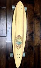 Sector 9 Bamboo Freestyle Longboard Skateboard 9.74 x 44 Complete Custom Artwork