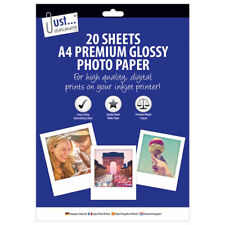 A4 20 Sheets Photo Paper - Glossy Inkjet Premium Quality High Gloss Pictures