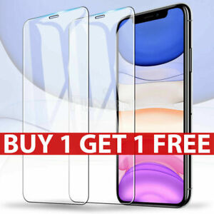 Tempered Glass Screen Protector For iPhone 11 Pro MAX X XR XS Max 8 7 6+ SE 5 5s