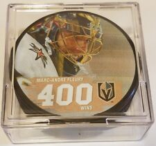 MARC-ANDRE FLEURY 400TH WIN VEGAS GOLDEN KNIGHTS PUCK RARE LIMITED EDITION