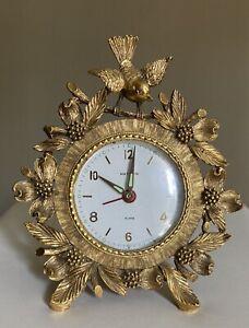 Lovely MATSON Hollywood Regency BIRD & Dogwood 24k on ORMOLU Clock Picture Frame