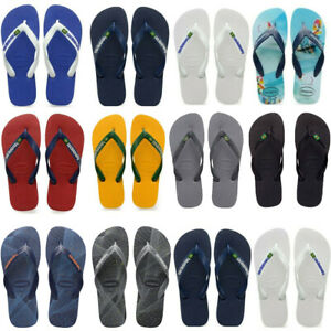 Havaianas Brazil Logo Top Mix Flip Flops Surf Casual Mens Womens Summer Shoes