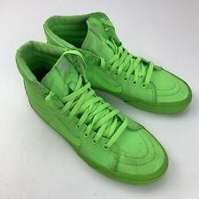 Vans Neon Green Skateboard Shoes Men's 8.5 Women's 10 (721454)
