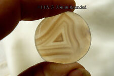 Scenic Banded Agate Rectangle Cabochon Tranclucient 32x33mm almost round