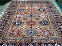 "Oriental Rug Fine super Kazak Wool  Hand Knotted Tribal Design Rug 8' x 10' 2"""