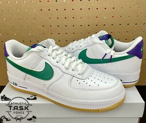 "💯 Nike Air Force 1 Low ""JOKER"" White Green Noise Purple Sz 13 New DO1156-100"