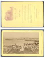 Ordinaire, France Dinard Panorama  CDV vintage albumen carte de visite,  Tirag