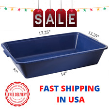 Pets Recycled Plastic Disposable Waterproof Blue Litter Box 18 x 13 x 3.5in NEW