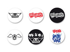 Lot Pack Badge Button Ø38mm Aerosmith Rock US Groupe Band