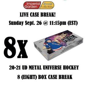 20-21 SKYBOX METAL UNIVERSE HOCKEY 8 BOX CASE BREAK #2729- New Jersey Devils