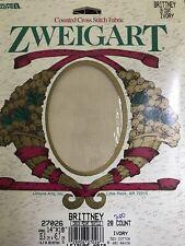 """Leisure Arts Zweigart 28 Ct Ivory Brittney Cross Stitch 14 x 18"""" Cotton/Rayon"""