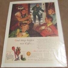 "Vintage 1948 Magazine Print Ad ""Pan-American Coffee Bureau"" Coffee ad PACB"