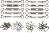 """10 Pack 1/8"""" Stainless Steel Cable Railing Kits for Wood Post DIY Balustrade Kit"""