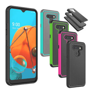 For LG K51/LG Q51/LG Reflect Phone Case Cover + Tempered Glass Screen Protector