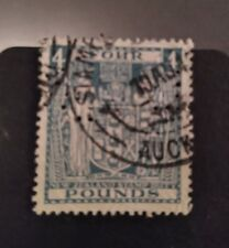New Zealand 1931 Arms rare £4 used, punched!!
