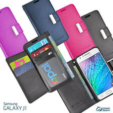 More Wallet Flip Card Slot Leather Case Cover For Samsung Galaxy J1 J1 Ace + SP