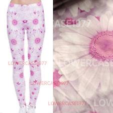 Pink Daisy soft leggings -  8 - 12 UK, daisies floral flowers cute kawaii pastel