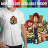 Mens Unisex Tee VNeck T-Shirt Toy Story Woody Jessie Buzz Lightyear Aliens Group