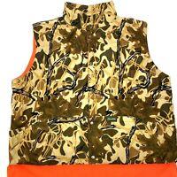 Gamehide Mens Reversible Hunting Vest Camouflage Blazing Orange Size XL. A5