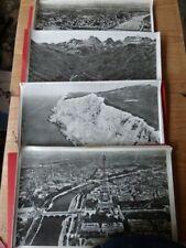 GROS LOT de PHOTOS AERIENNES  N.B.   ANCIEN MATERIEL SCOLAIRE