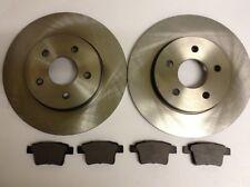 Ford Mondeo MK3 Rear Brake Discs x2 & Rear Brake Pads x4 2005-2007 Square Lugs