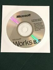 NEW Microsoft Works 8.5 Office Program Suite Word processor With Product Key