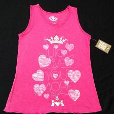 NWT Juicy Couture New & Gen.Girls Age 10 Pink Sleeveless Vest T-Shirt With Logo