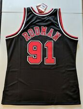 DENNIS RODMAN Mitchell & Ness M&N CHICAGO BULLS SWINGMAN Jersey XL NBA NWT Spurs