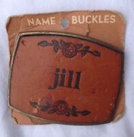 Jill Leather Belt Buckle American Vintage Classic Retro Country Western