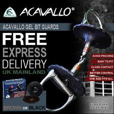 Acavallo GEL BIT GUARDS - BLACK or BROWN - No Pinching - Balance & Stabilise Bit