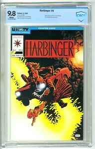 HARBINGER #8 (1992) CBCS 9.8 NM/MT WHITE VALIANT FRANK MILLER COVER not CGC