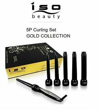 ISO Beauty Authentic NIB 5P Curling Iron Wand Set - GOLD COLLECTION