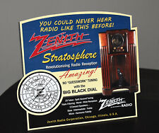 Zenith Stratosphere Tube Radio Stand up ad Sign