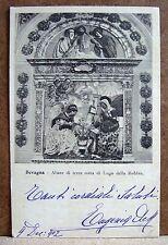 Bevagna - Altare di terra cotta di Lugo della Robbia [piccola, b/n, viaggiata]