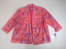 Jacket womens Formal Peter Nygard Pink Snake sparkle Plus 3X  $149.00
