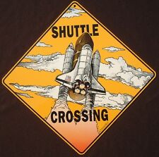 SHUTTLE  CROSSING  Sign aluminum planes picture decor nasa novelty signs home