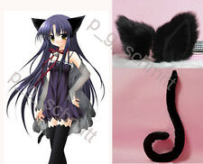 Loveless Kitty Cosplay Cat Ears and Tail with wire Black