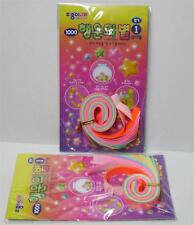 Korean Neon Color Star Folding Origami Paper 2 Pack 22cm x 1cm DD10K3