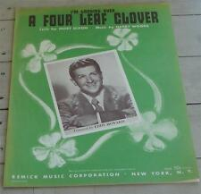 I'm Looking Over A Four Leaf Clover, Harry Woods, 1927 OLD SHEET MUSIC