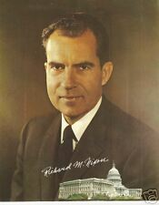 President RIchard Nixon Glossy Original Portrait Card From Official Photo